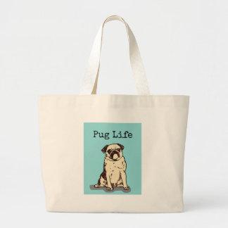 Pug Life Jumbo Tote Bag