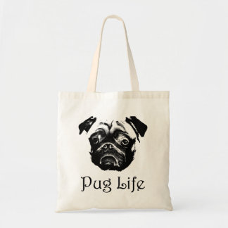 Pug Life Pug Face Tote Bag