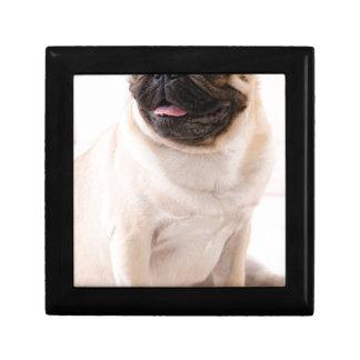Pug life small square gift box