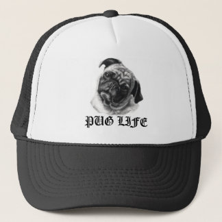 Pug Life Trucker Hat by nicola