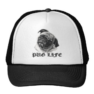 Pug Life Trucker Hat by nicola