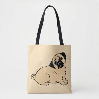 Pug Light Beige Tote Bag