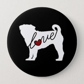 Pug Love 10 Cm Round Badge