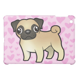 Pug Love (add your own background!) Cover For The iPad Mini