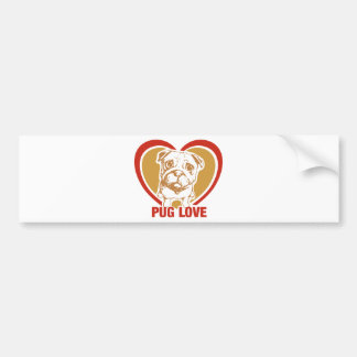 Pug Love - For those that love their pugs Bumper Sticker