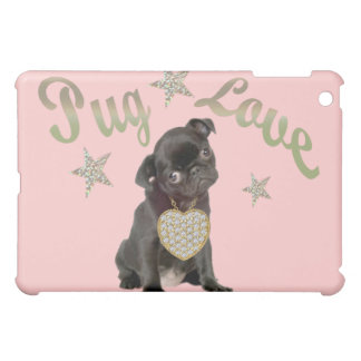Pug Love IPAD SKIN iPad Mini Cases