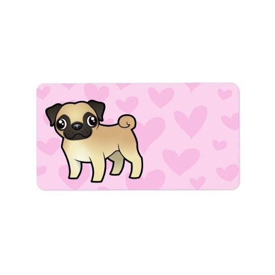Pug Love Label
