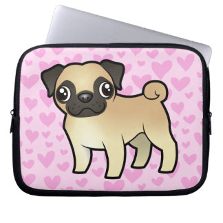 Pug Love Laptop Sleeve