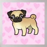 Pug Love Poster