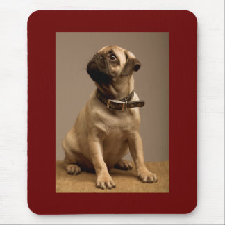 Pug Love Puppy Dog Brown Computer  Mousepad