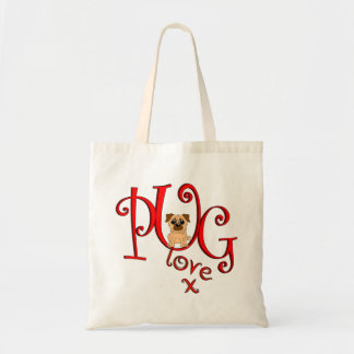 Pug Love Tote Bag