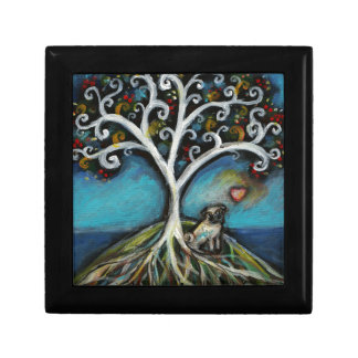Pug Love Tree of Life Small Square Gift Box