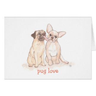 Pug Love Valentine Greeting Card