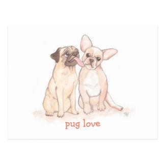 Pug Love Valentine Postcard