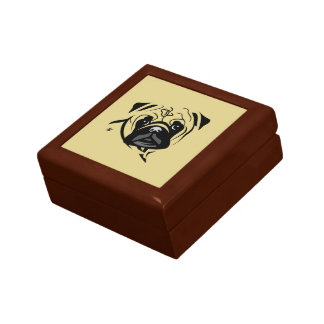 Pug Lover Gifts Small Square Gift Box