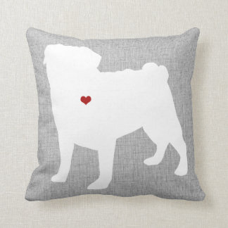 Pug Lover Heart Pet Cushion