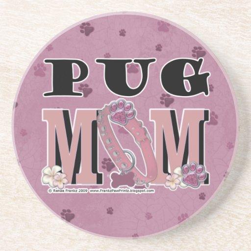 Pug MOM Drink Coasters