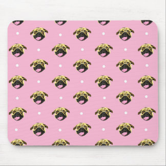 Pug Mouse Mat Baby Pink