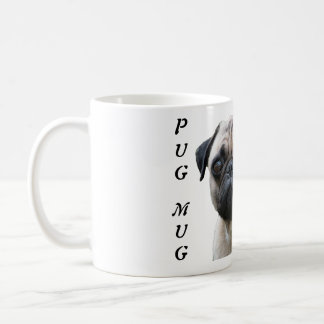Pug mug funny dog custom coffee mug