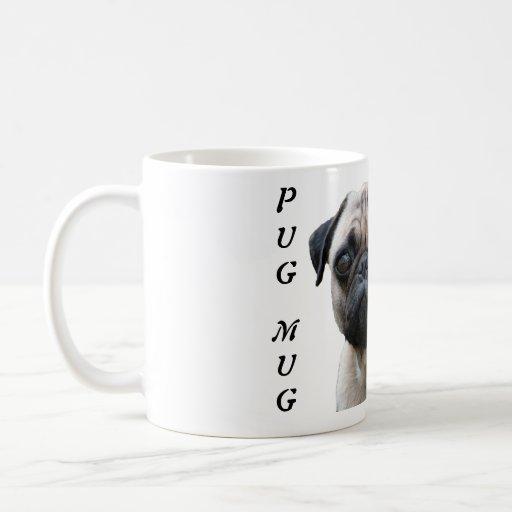 Pug mug funny dog custom coffee mug