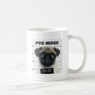 Pug Mug, Good Pugs Gone Bad Basic White Mug