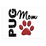 Pug Mum 2 Postcard