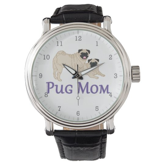 Pug Mum Pair Fawn Pugs Stylish Watch