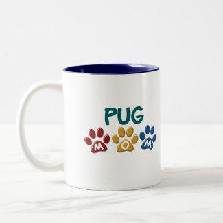 PUG Mum Paw Print 1 Coffee Mug