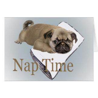 Pug Nap Time Invitation Greeting Card