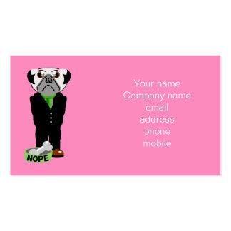 Pug Nope Pack Of Standard Business Cards