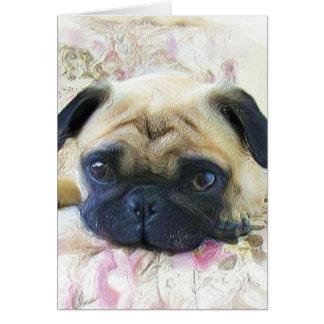 Pug Notecard