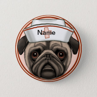 Pug Nurse Pin