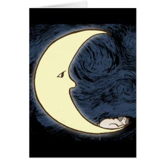 Pug on the Moon Greeting Card