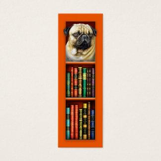 Pug Orange Bookmark Mini Business Card
