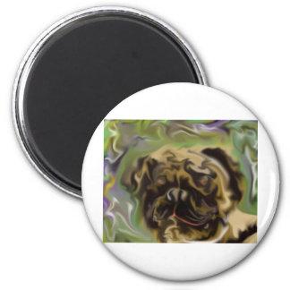 Pug Paint Fridge Magnet