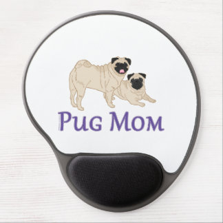 Pug Pair Dog Mom Gel Mouse Pad