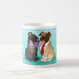 Pug Pair Mug (Black/Fawn)