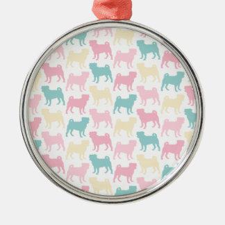 Pug_pastel_pattern Christmas Ornament
