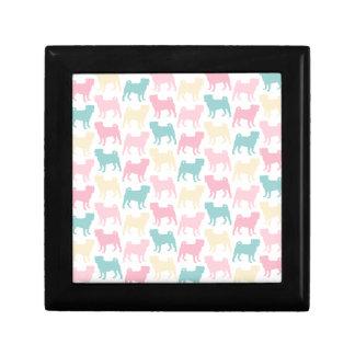 Pug_pastel_pattern Small Square Gift Box