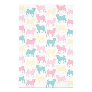 Pug_pastel_pattern Stationery