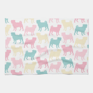 Pug_pastel_pattern Tea Towels