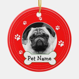 Pug Pet Dog Paws Christmas Ornament