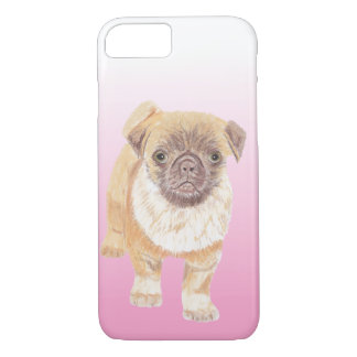Pug phone cover, pink iPhone 8/7 case