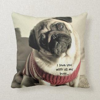 Pug Pillow Cushion