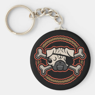 Pug Pirate 21213 Key Ring