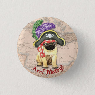 Pug Pirate 3 Cm Round Badge