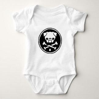 Pug Pirate Baby Bodysuit