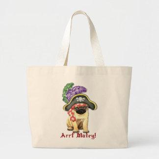 Pug Pirate Jumbo Tote Bag