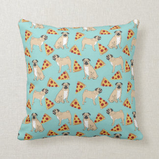 Pug Pizza Party cute pug owner pillows