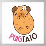 Pug Plus Potato Pugtato Poster
